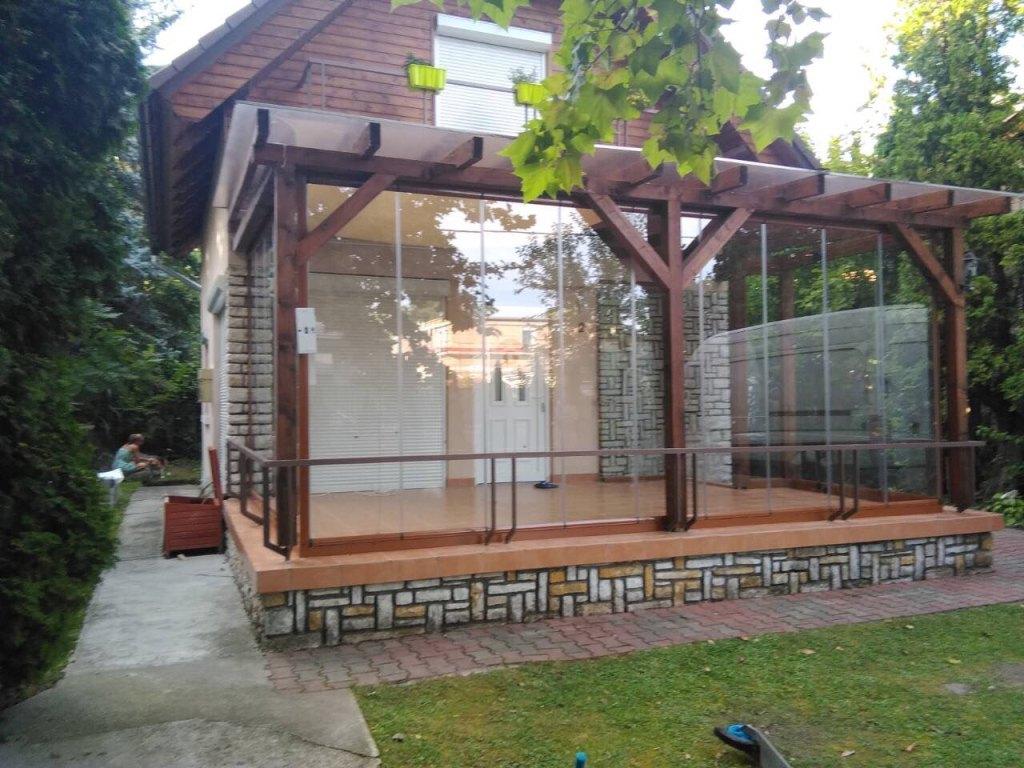 olcsó Lapozható üvegfal teraszon