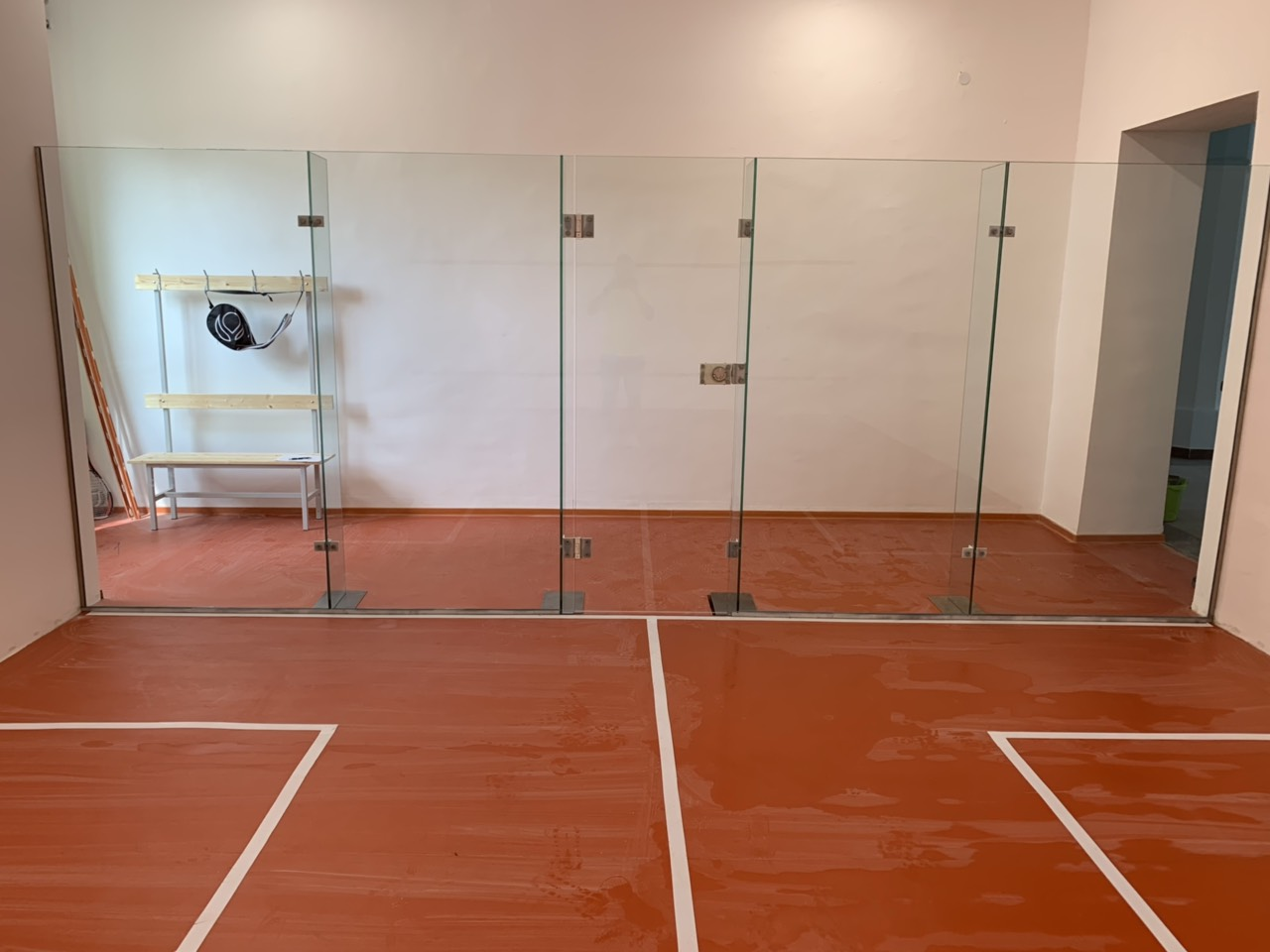 Üveg squash pálya