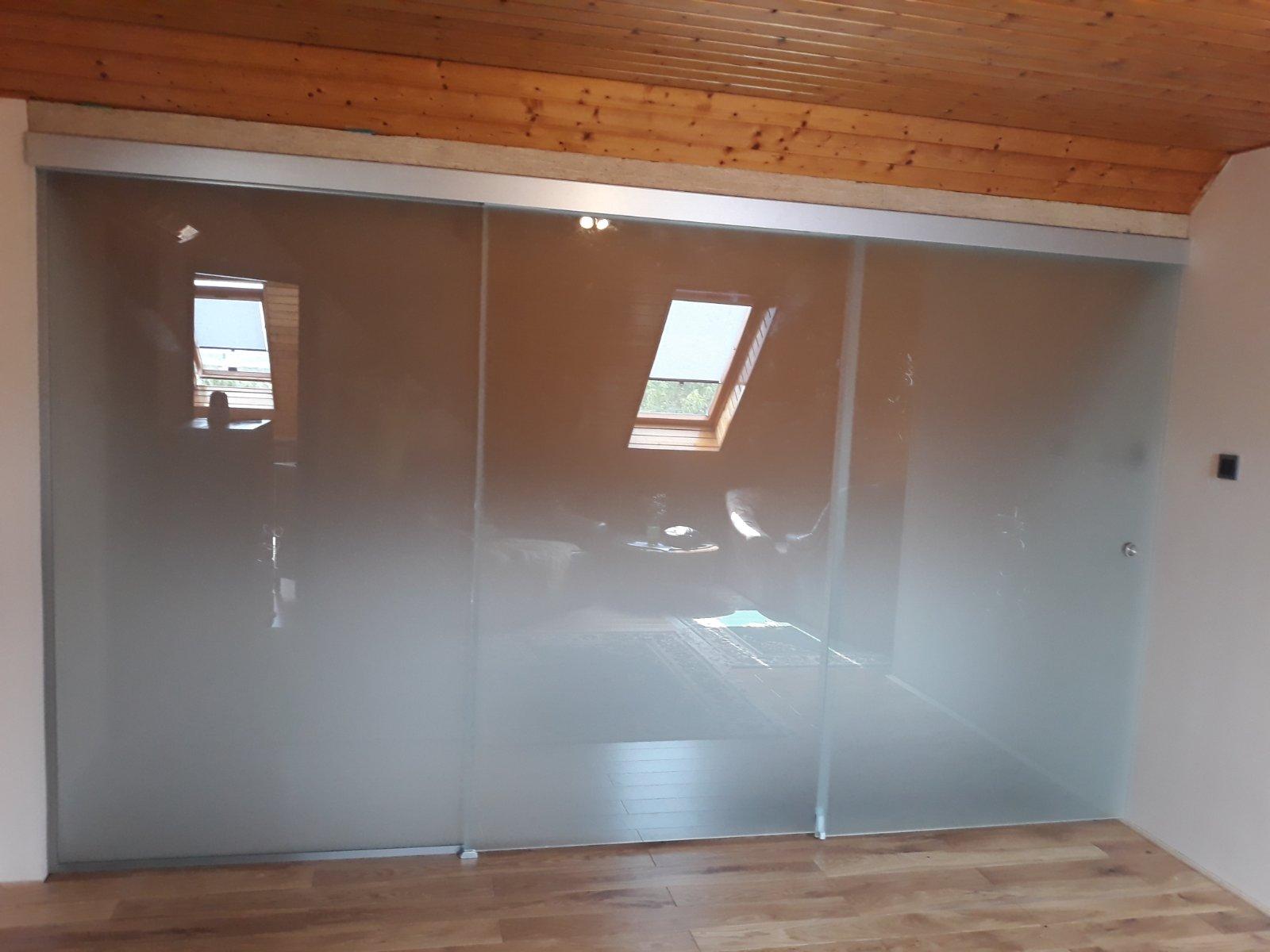 Tolható üvegfal 3 részes
