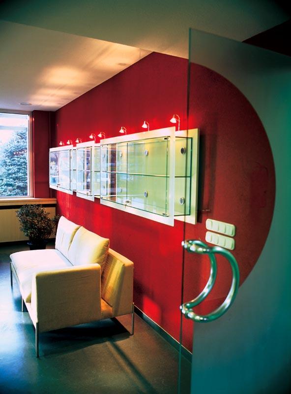 Üvegvitrin világítással
